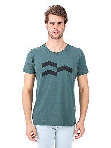 Camiseta Símbolo Gráfico Verde Stoned