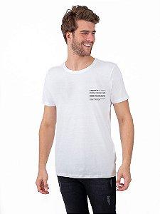 Camiseta Empatia Branca