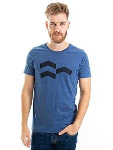 Camiseta Símbolo Gráfico Azul