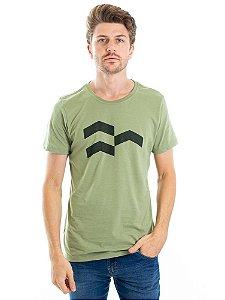 Camiseta Símbolo Gráfico Verde