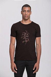Camiseta Flor de Café Preta