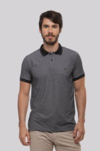 Camisa Polo Piquet Denim Black