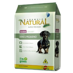 RAÇÃO FORMULA NATURAL SENSITIVEL PORT MINI/PEQ 1KG