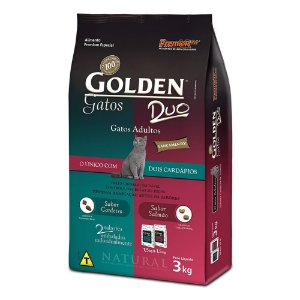 GOLDEN GATOS DUO ADULTO SALMÃO CORDEIRO 3KG