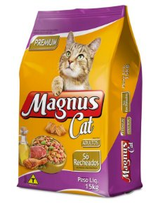 MAGNUS CAT SO RECHEADOS 15KG