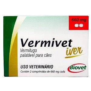 VERMIVET IVER 660MG ATE 10KG C/4