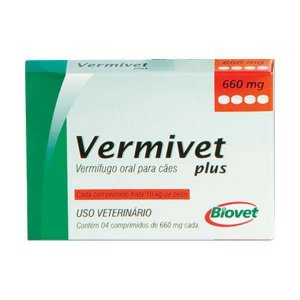 VERMIVET PLUS 660MG C/4