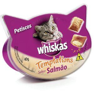 WHISKAS TEMPPATIONS SALMÃO 40G
