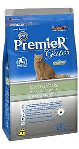 PREMIER GATO ADULTO CASTRADO ACIMA 12 ANOS  - 1,5 KG