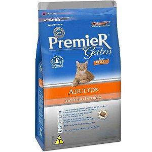 Premier Gatos Ambientes Internos Adultos Frango 7,5KG