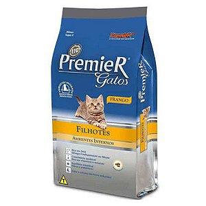Premier Pet Ambientes Internos Gatos Filhotes Frango 7,5 KG