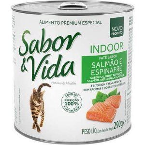 SABOR E VIDA LATA GATO INDOOR SALMÃO ESPINAF 290GR