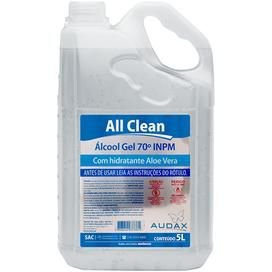 ALCOOL GEL 70.INPM ALL CLEAN 5 LITROS