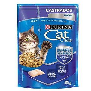 CAT CHOW SACHE Castrados Peixe ao molho 85g
