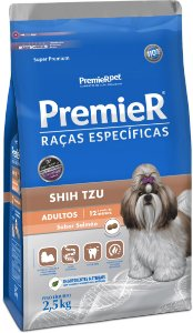 PREMIER RE SHI TZU ADULTO SALMAO 1 KG