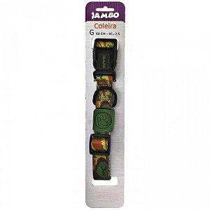 Coleira Jambo Rubber Militar para Cães G