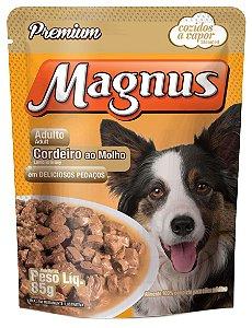 Magnus Sachê Premium Cães Adultos Sabor Cordeiro ao Molho 85G