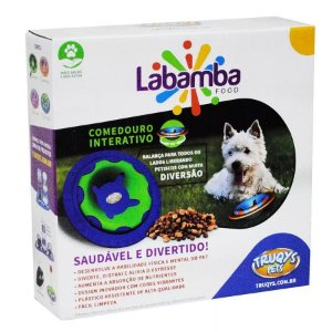 COMEDOURO BRINQUEDO LABAMBA TRUQYS - ROSA/ROXO