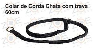 Colar Educativo Preto 60cm Corda Chata