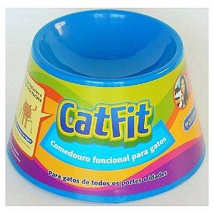 COMEDOURO FUNCIONAL CAT FIT AZUL