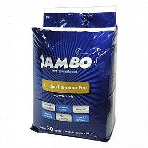 TAPETE HIGIENICO JAMBO P/ CAES 30 PCS