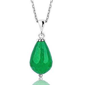 Colar de Prata, Pedra natural Jade