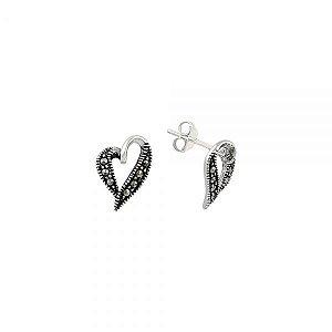 Brincos de Prata, Micro Pedras de Marcassita