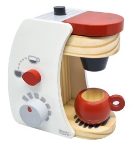 Cafeteira Comidinha de Madeira - Kit com 4 peças