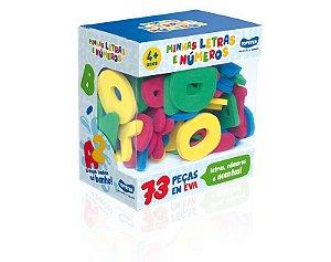 Brinquedo Educativo de Banho Minhas Letras e Números