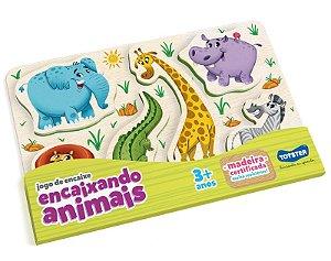 Quebra Cabeça Educativo Encaixando Animais Savana