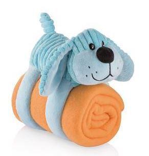 Cobertor com travesseiro de pelúcia - CACHORRO