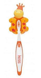 Escova dental infantil com capa bichos - GIRAFA