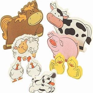 Animais da Fazenda - 9 peças