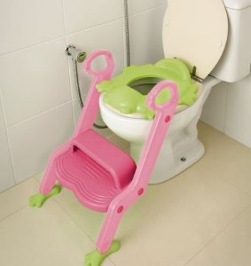 Redutor de assento com escada - Rosa