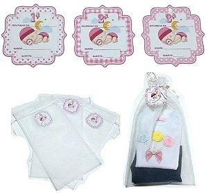 Kit com 3 saquinhos de maternidade - ROSA