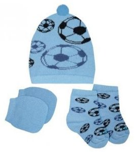 Kit Touca, luvas e meias tricô - Futebol