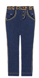 Meia Calça Jeans - Menina - Bebê