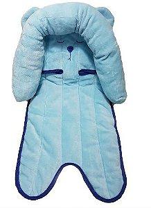Suporte para cabeça de bebê - Ursinho Azul