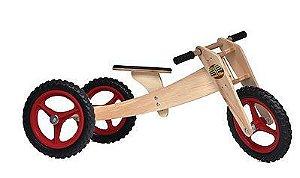 Bicicleta Woodbike 3 em 1 - VERMELHA