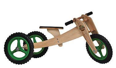 Bicicleta Woodbike 3 em 1 - VERDE