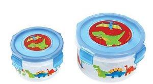 Kit com 2 potes para alimentos - DINO