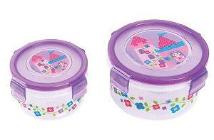 Kit com 2 potes para alimentos - PRINCESAS