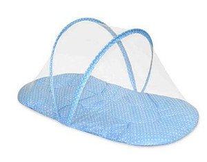 Mosquiteiro Portátil com Colchonete Azul