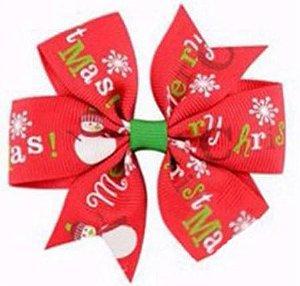 Laço - Natal Vermelho Merry Chirstmas