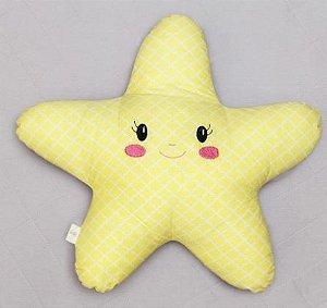 Almofada Luminosa - Estrela Amarelo
