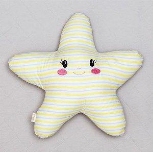 Almofada Luminosa - Estrela Listras Amarelas