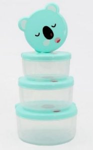 Kit com 4 potinhos para lanche - Koala