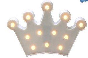Luminária - Coroa BRANCA