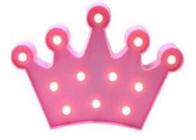 Luminária - Coroa ROSA