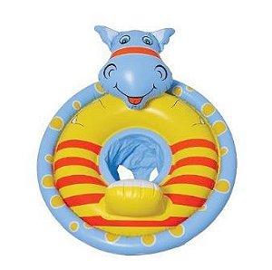 Bóia Circular  com cadeirinha - Hipopótamo